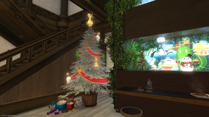 エンプティープレゼントボックスとホワイトツリー